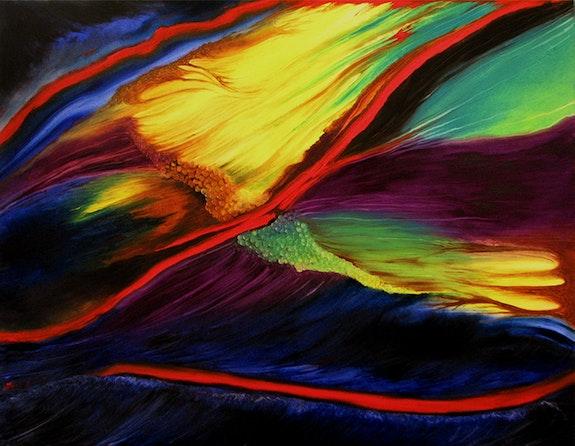 Aurore Vénusienne * Huile sur toile -. Arlette Le Bohec Arlette Le Bohec
