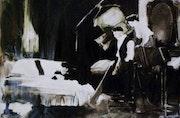 Oeil sur l'amour Huile sur toile 180x130 Série « Arrêts sur image ». Daniel Muage