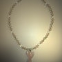 Guardian Angel-Halkett of rose quartz. Opalit and serpentine with Engelanh. . Regina Korell