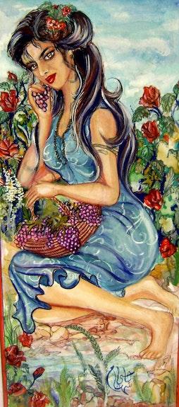 Frau im Garten. Sihem Badji Sihem Badji