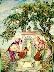 Alrededor de la fuente. Sihem Badji