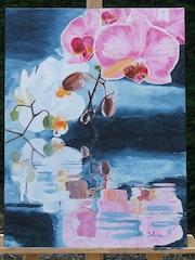 Reflets dans l'eau (orchidées). Fargeot Yolande