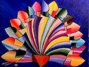 Eventail Multicolor.