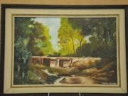 Die kleine Brücke im Wald von den Cevennen.