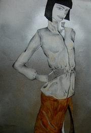 Lola Kaschmir-Jacke und silbernem Hintergrund. Montserrat Castellano