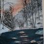 Torrent in winter. Gerard Betat