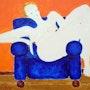 "Picture 444: ""lady in a blue armchair"" . Hans-Joachim Salchow"