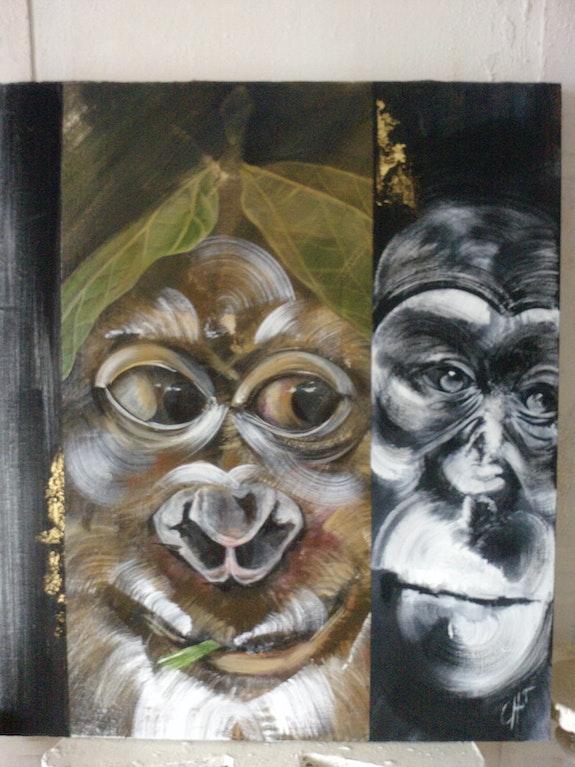 Deux singes. Trotot Christine Christine Trotot