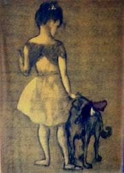 Picasso: das junge Mädchen, um den Hund . Vermillion Dollars Gallery