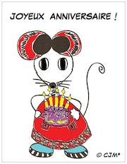 "Erstellen Original-Postkarte CJM * ""Happy Birthday! ! ! ""."