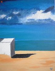 Playa cabaña del Mar del Norte .