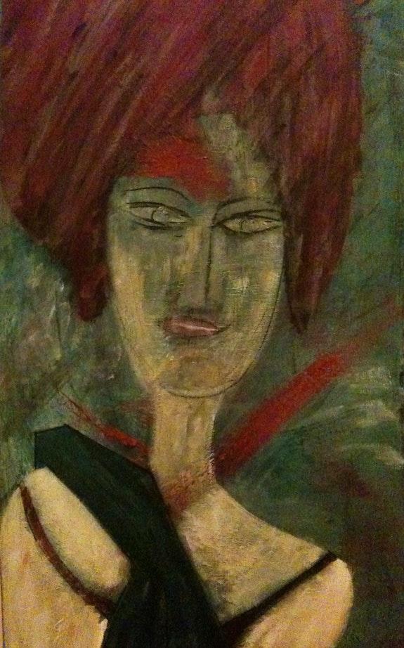 Femme gantée. Mizzi Mizzi