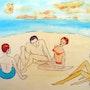 """Photo 487: «conversation de plage chez les jeunes"""" . Hans-Joachim Salchow"""