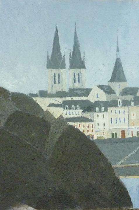 """El muelle de Foix y la iglesia de San Nicolás visto en el barrio de """"Vienna"""" . Cathala Charles Cathala"""