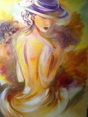 La mujer en el sombrero .