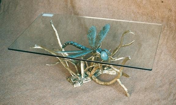 Dragonfly on branch. Daniel Chassin Chassin Daniel Sculpteur