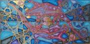 abstracto con pan de oro Gecko . Dan Knowland
