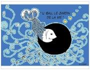 """* Creación original CJM Postal El pescado de agua Belle Ile en Mer """"."""
