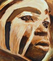 Africa nuba facial painting .
