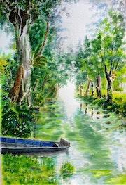 La vieille barque bleue….