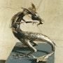 Dragon retourné. Chassin Daniel Sculpteur