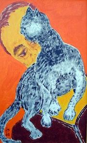 """Imagen 435: """"El hombre con el gato» . Hans-Joachim Salchow"""