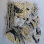 Character Maskenball in Venedig Zeichnung mit Pastell . Jean-Michel Vallet