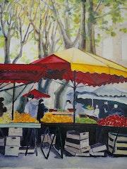 Le marché d'Aix-en-Provence 1. Xi Chen