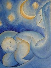 Es bimbo, die Tetta e la luna (das Kind, das Stillen und der Mond) .