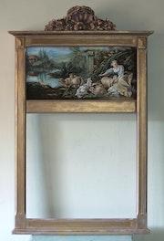 Prächtige alte Pier, Gemälde, geschnitzte Gesims.. Olena Pogosian