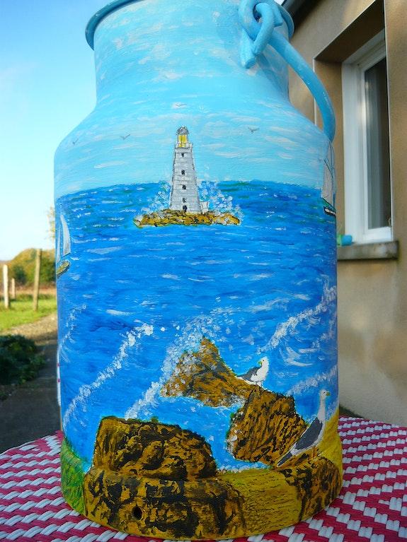 """Milk churn """"the sea"""" 2 .  Dominique"""