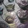 Juego de vasos (pastel) 2010 . Annie Roudet