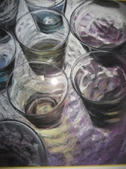 Set of glasses (pastel) 2010 .