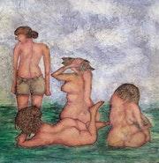 Four bathers.
