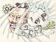 Dessin style tatouage japonais. Alexandre Gromolard Dessine Vos Envies