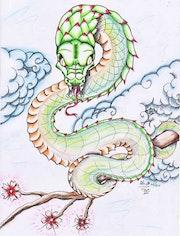 Im japanischen Stil Tattoo-Design . Alexandre Gromolard Dessine Vos Envies