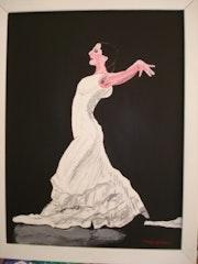 Flamenco-Tänzerin .