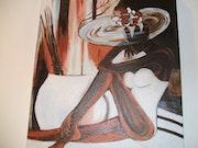 """Mujer con Sombrero """"Pierre Farel"""" ."""