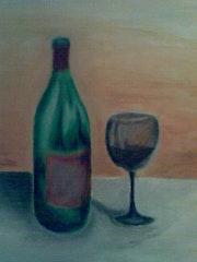 Wine Bottle & Glass Printing . Christian Fiedler