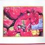 Poivrons rouges, jaunes, verts (aquarelle) 2004. Annie Roudet