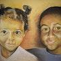 Mélissa et Steve (pastel) 2009. Annie Roudet