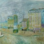 Boulevard de Clichy reproduction of a painting of the Master Vang Gogh .