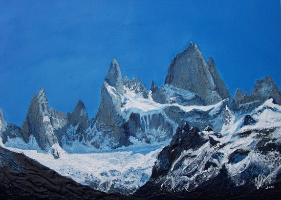 Cerro chálten» montaña humeante» de Argentina. Virginia Ocaña G. Virgi