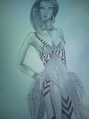 Femme modèle ethnique. Ynaf Sarib