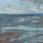 À marée basse, de la terrasse du bistrot, la lumière s'éteignait,. Dany Wattier