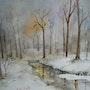Unterholz im Schnee. Edith Driffort
