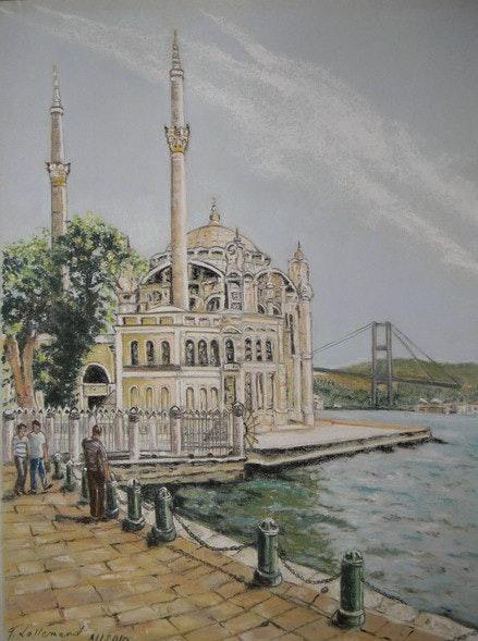 Ortakoy Mosque in Turkey. Françoise-Elisabeth Lallemand Françoise-Elisabeth Lallemand