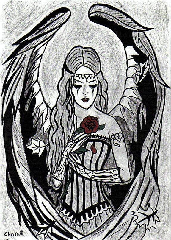 Angel Rose Gothic. Ewavende Ewavende