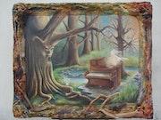 El alma del piano en el claro.