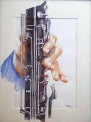 Clarinetista de la mano.